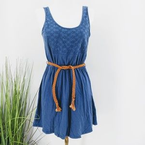 Kirra sun dress open back eyelet over lay chest wi